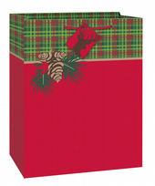 Red & Green Tartan Christmas Large Gift Bag